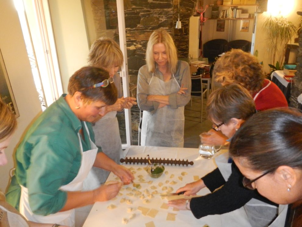 AUTUMN IN LIGURIA - AT VILLA PAGGI B & B KITCHEN COURSES AND TYPICAL LIGURIAN DINNER