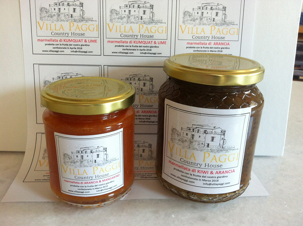 Homemade jams and marmalades